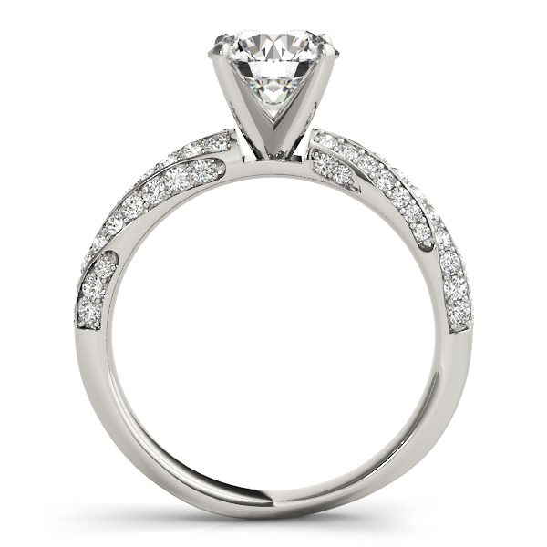 Swirl Multi Row Diamond Engagement Ring