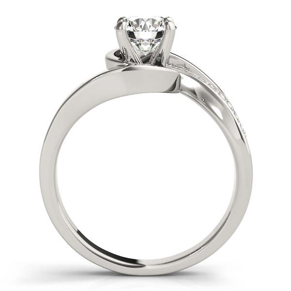 Swirl  Diamond Engagement Ring with Accents
