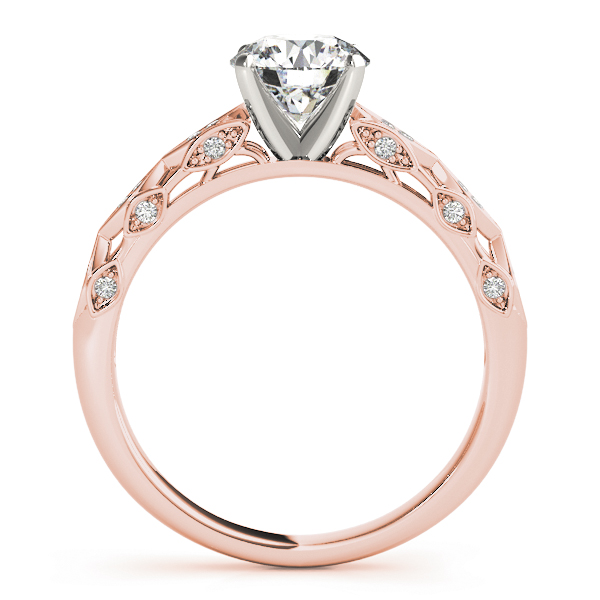 Vintage Swing Diamond Cathedral Bridal-Set in Rose Gold