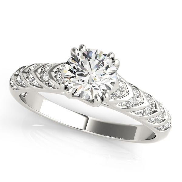 Cathedral Trellis Arrow Diamond Engagement Ring