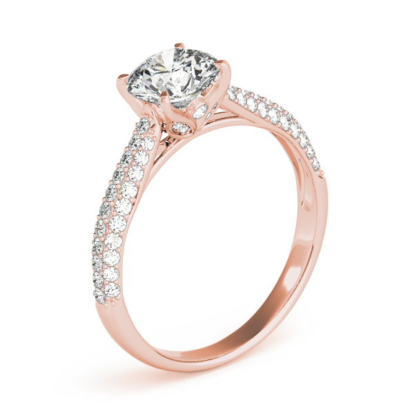 Etoil Cathedral Diamond Engagement Ring in Rose Gold