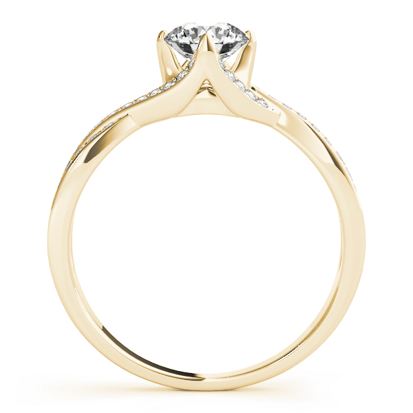 Intertwine Petite Diamond Engagement Ring in Yellow Gold