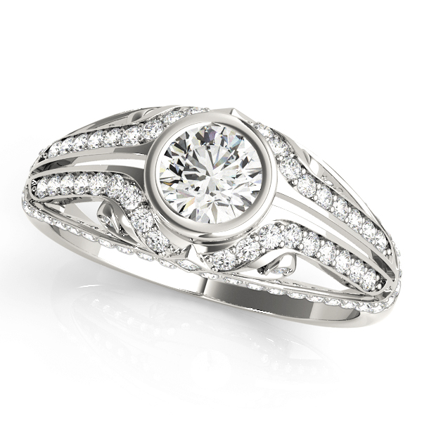 Bezel Diamond Contour Engagement Ring