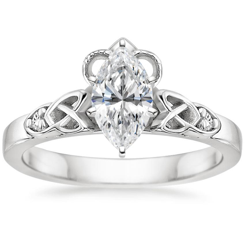 Marquise Diamond Celtic Claddagh Engagement Ring
