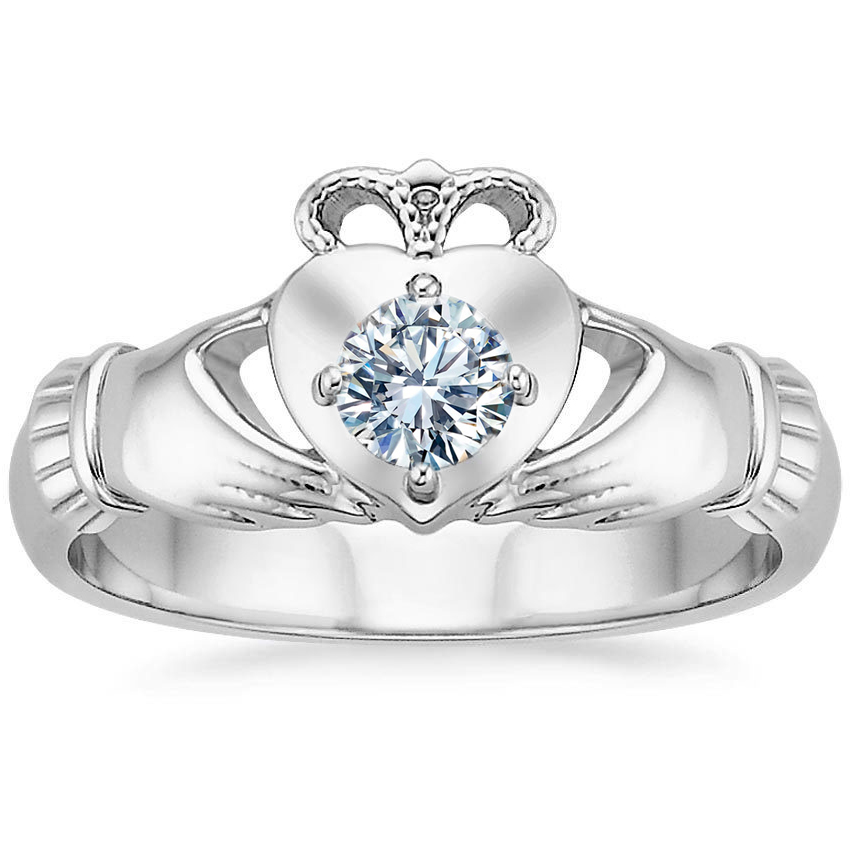 Solitaire Claddagh Engagement - Anniversary Ring