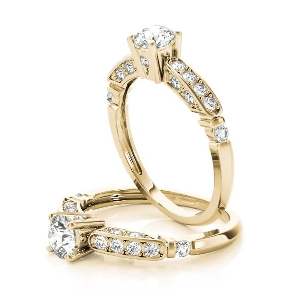 Victorian Diamond Engagement Ring Yellow Gold