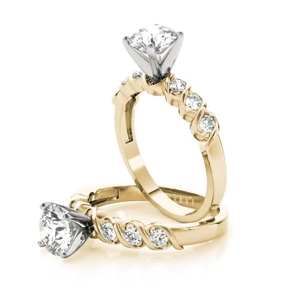 Petite Helix Diamond Engagement Ring Yellow Gold