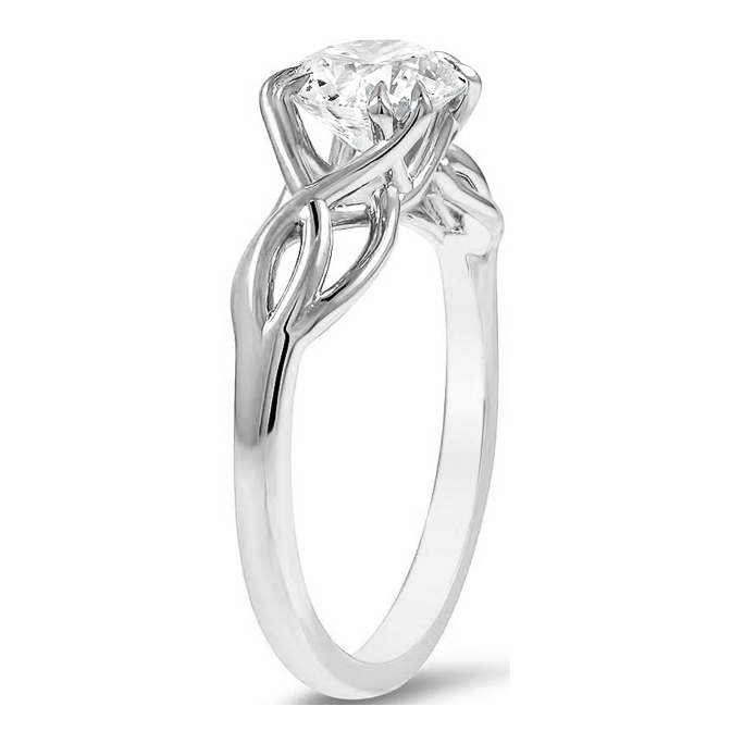 Solitaire Ichthys (Fish) Engagement Ring