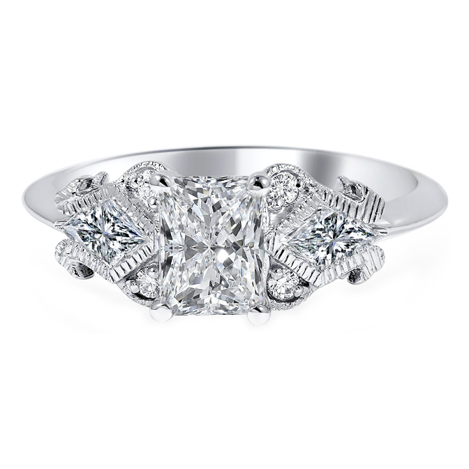 Radiant - Shield Diamond Engagement Ring