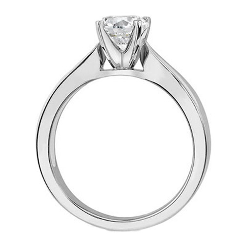 Solitaire Concave Diamond Engagement Ring