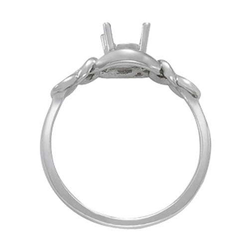 Love Knot Solitaire Diamond Ring, 0.30ct