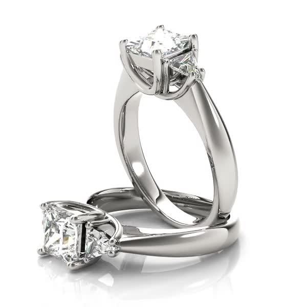 Princess - Trillion Diamond Classic Engagement Ring