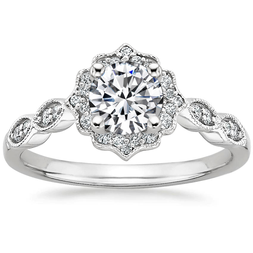 Swing Halo Diamond Engagement Ring