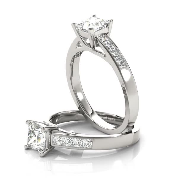 Classic Trellis Princess Engagement Diamond Ring