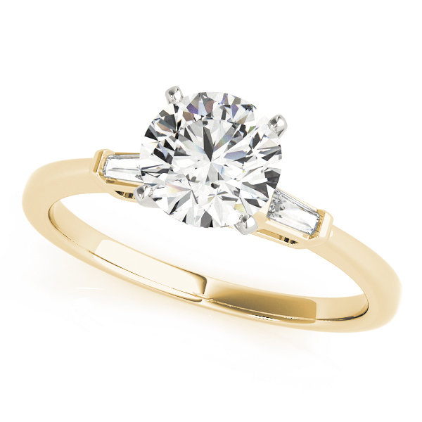 Classic Tapered Baguette Diamond Engagement Ring in Yellow Gold