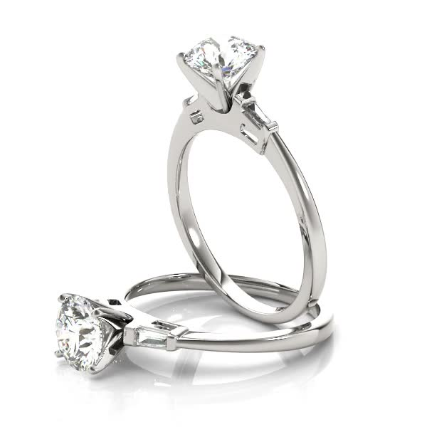 Classic Tapered Baguette Diamond Engagement Ring