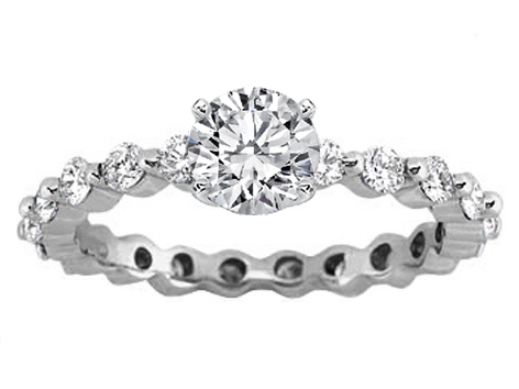 Eternity Diamond Engagement Ring Setting 0.63 tcw.