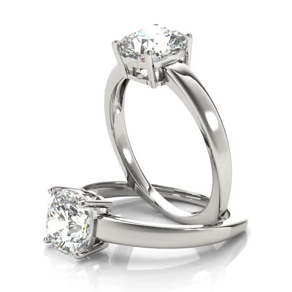 Cushion Solitaire Diamond Euro Shank Engagement