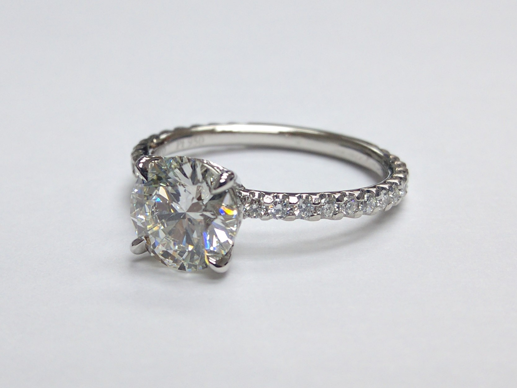 Hidden Halo Diamond Engagement Ring