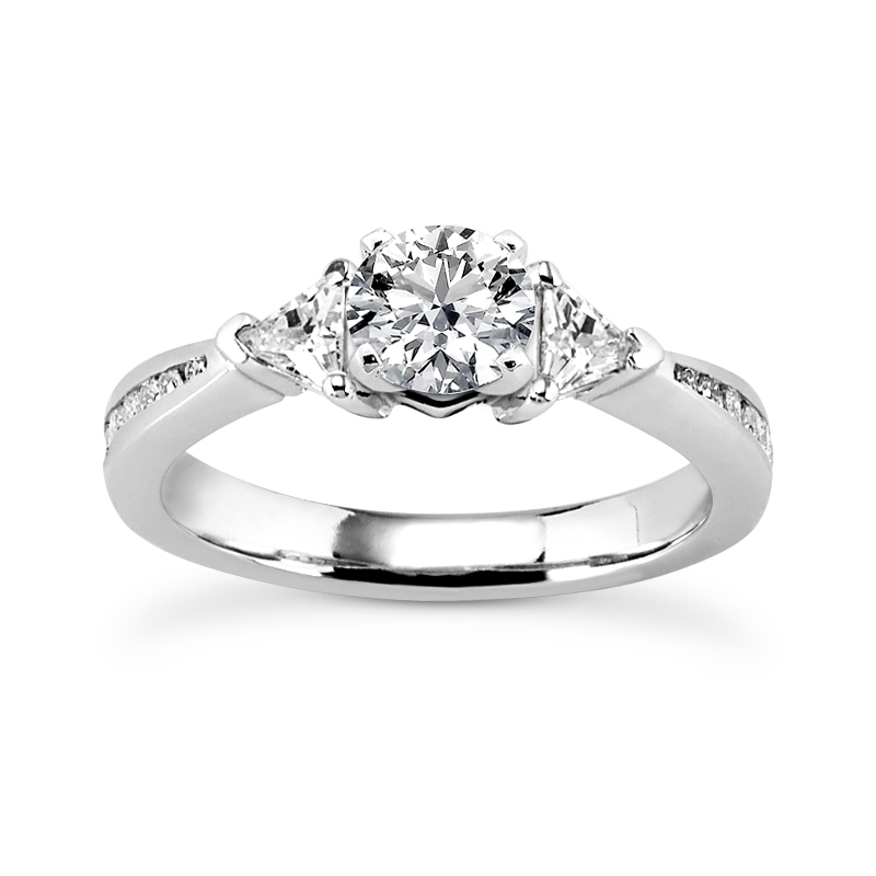 Three Stone Trillion Journey Engagement Ring