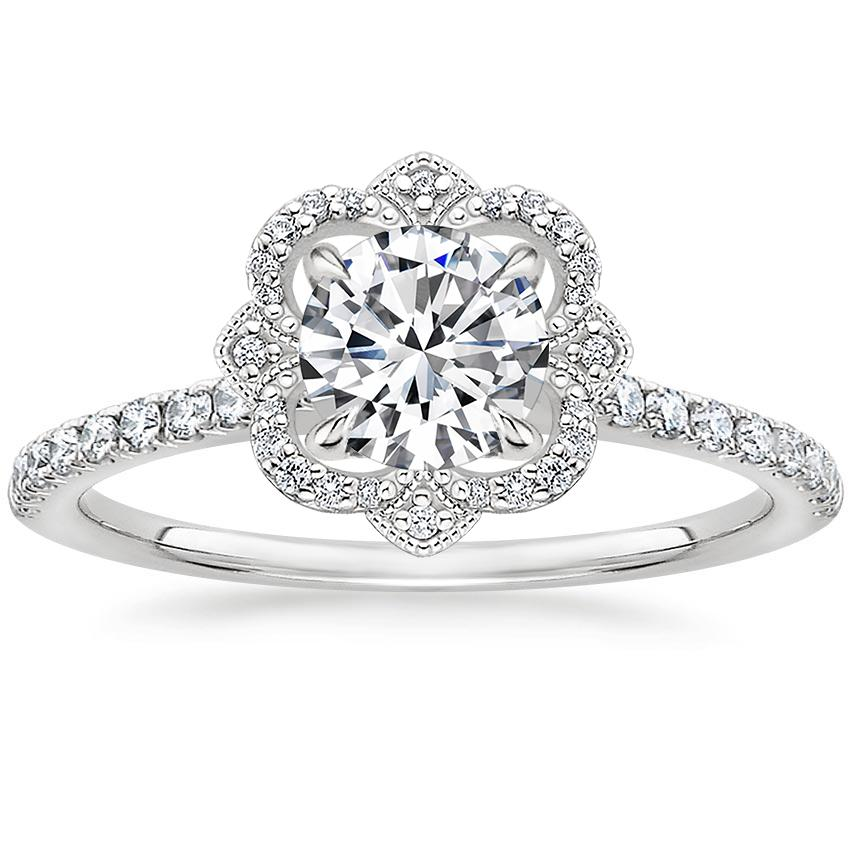 Royal Crown Halo Engagement Ring
