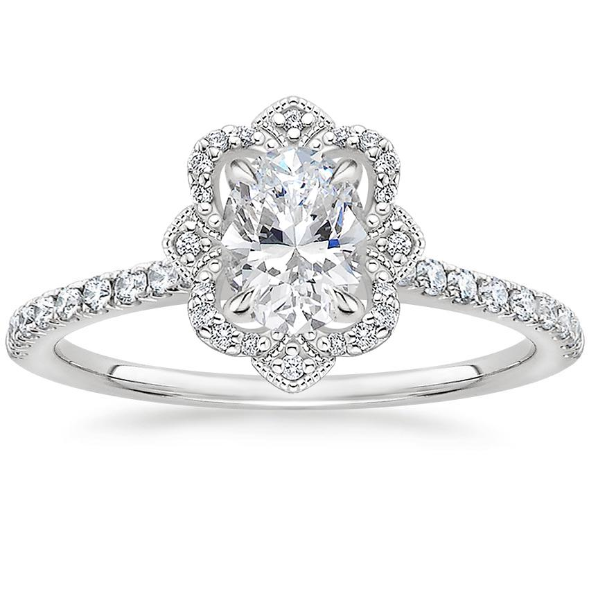 Oval Royal Crown Halo Engagement Ring