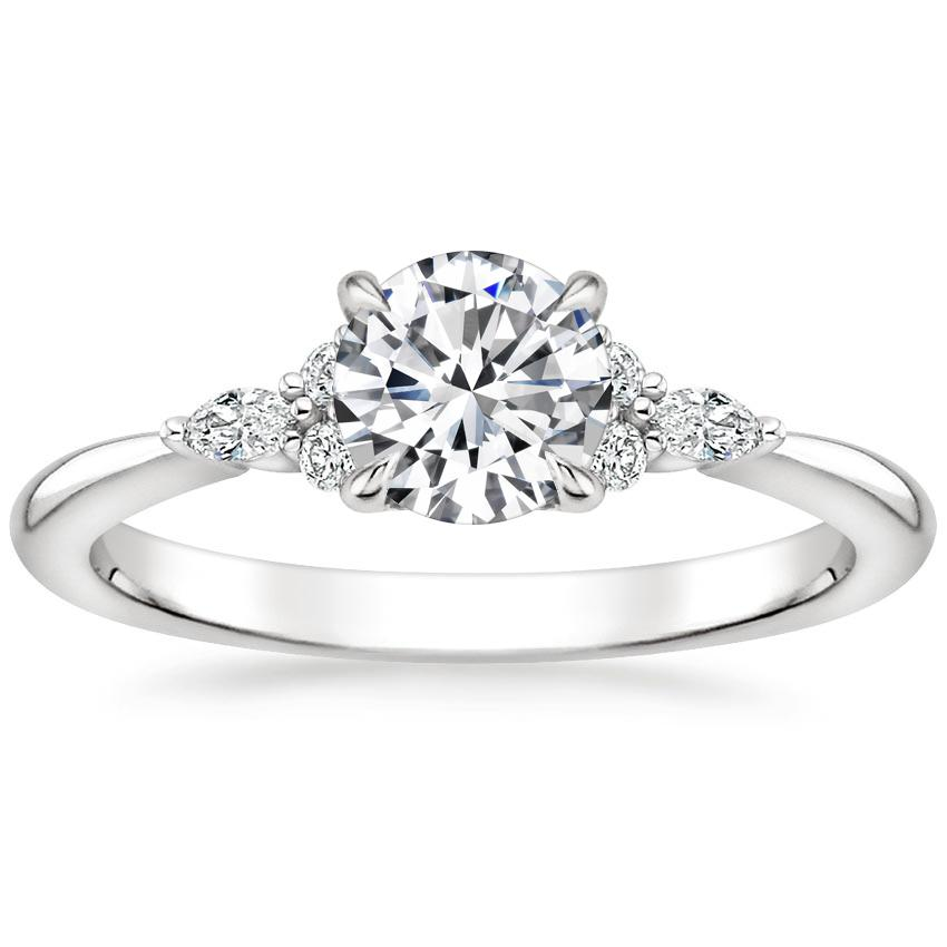 Celtic Diamond Cluster Engagement Ring