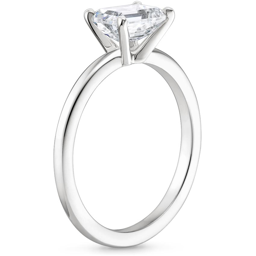 Horizontal Pear Diamond Solitaire Engagement Ring