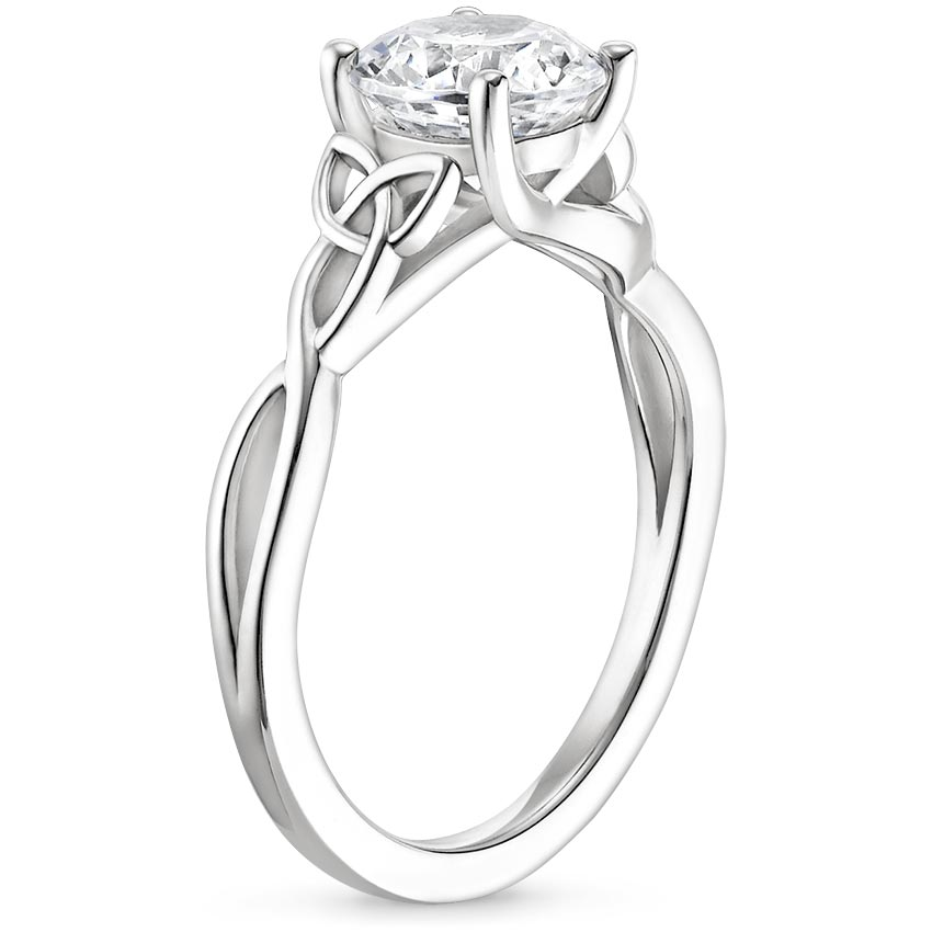 Intertwined Celtic Solitaire Engagement Ring