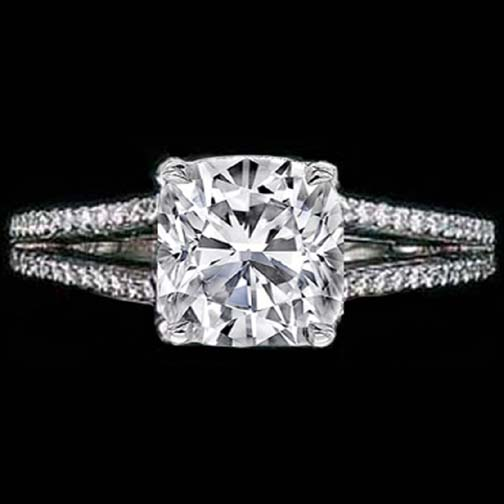 Cushion Diamond Split Band Engagement Ring Choice of Maria Sharapova