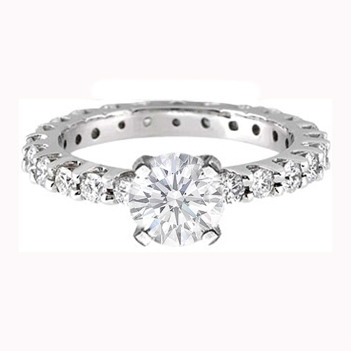 Eternity Diamond Engagement Ring 0.72 tcw.