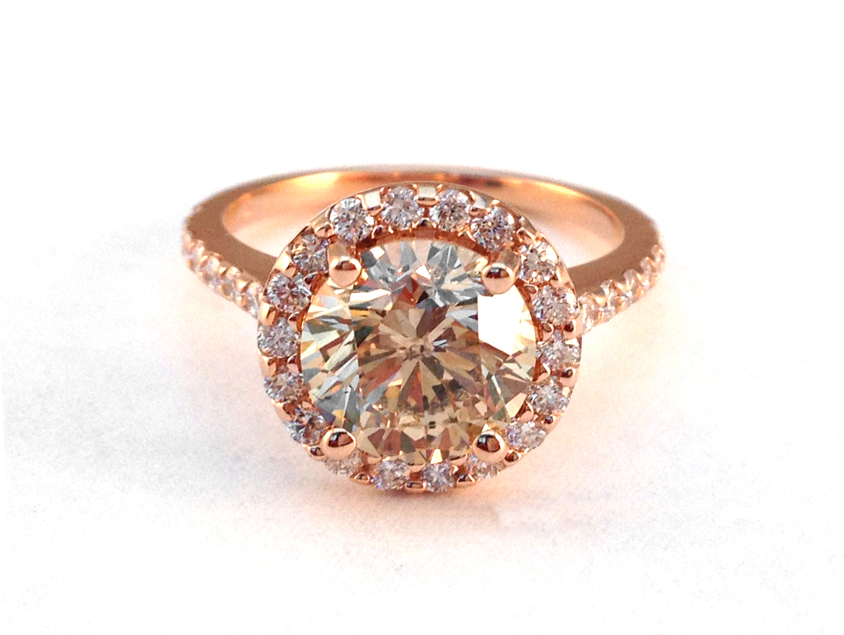 Champagne Engagement Rings From Mdc Diamonds Nyc