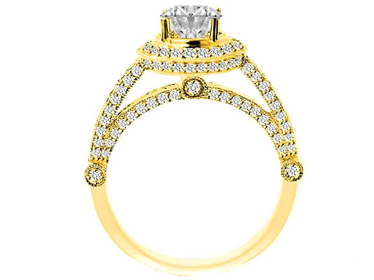 Vintage Legacy Diamond Engagement Ring in Yellow Gold 1.02 tcw.