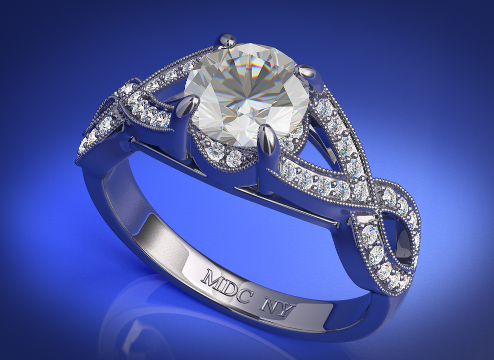 Engagement Ring Infinity Love Diamond Engagement Ring Diamond Band