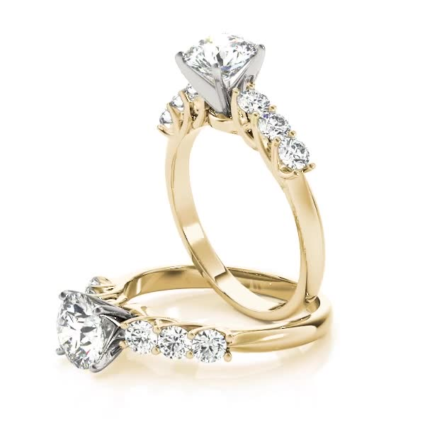 Trellis Diamond Engagement Ring in Yellow Gold