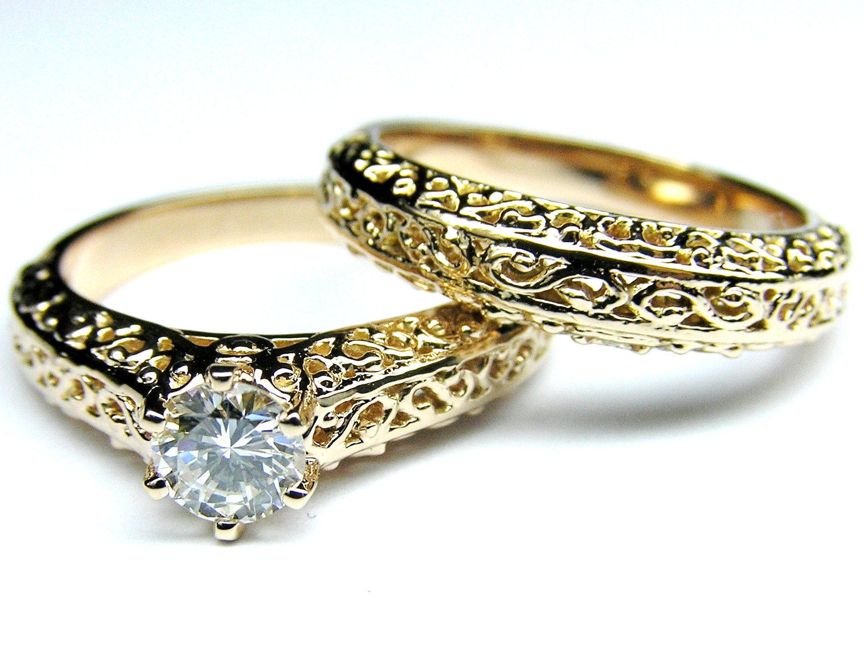 unique engagement rings media design diamond filigree ring white wedding gold