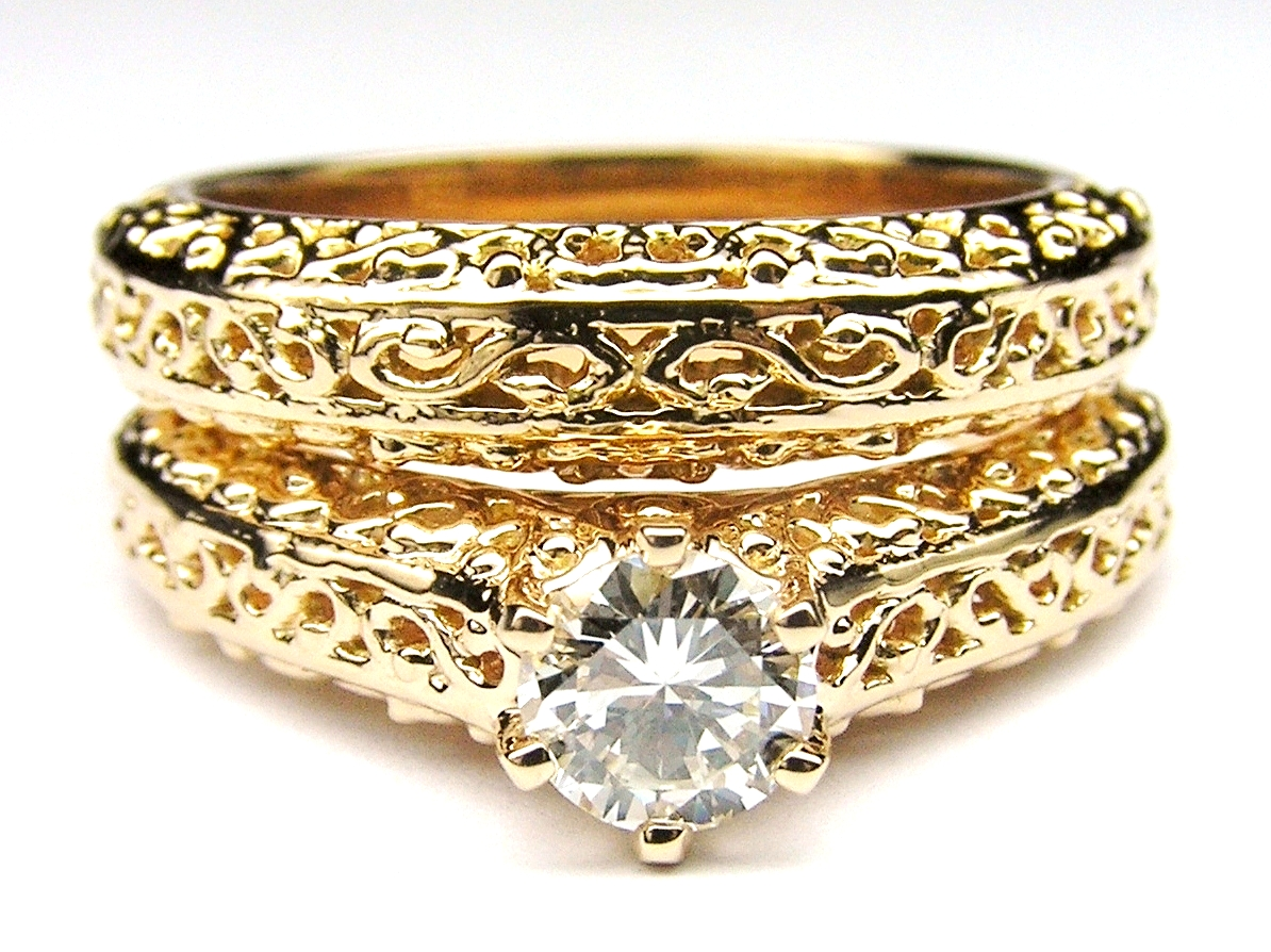 sardinian filigree wedding gold ring honeycomb mxyxsz rings band