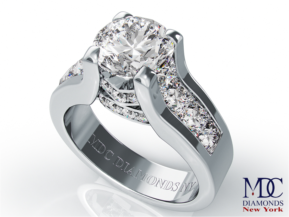 enement ring modern bridal set diamond - Contemporary Wedding Rings