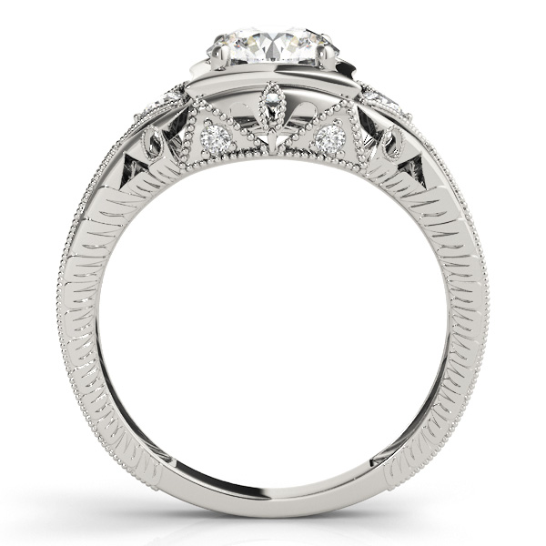 Filigree Diamond Heirloom Engagement Ring