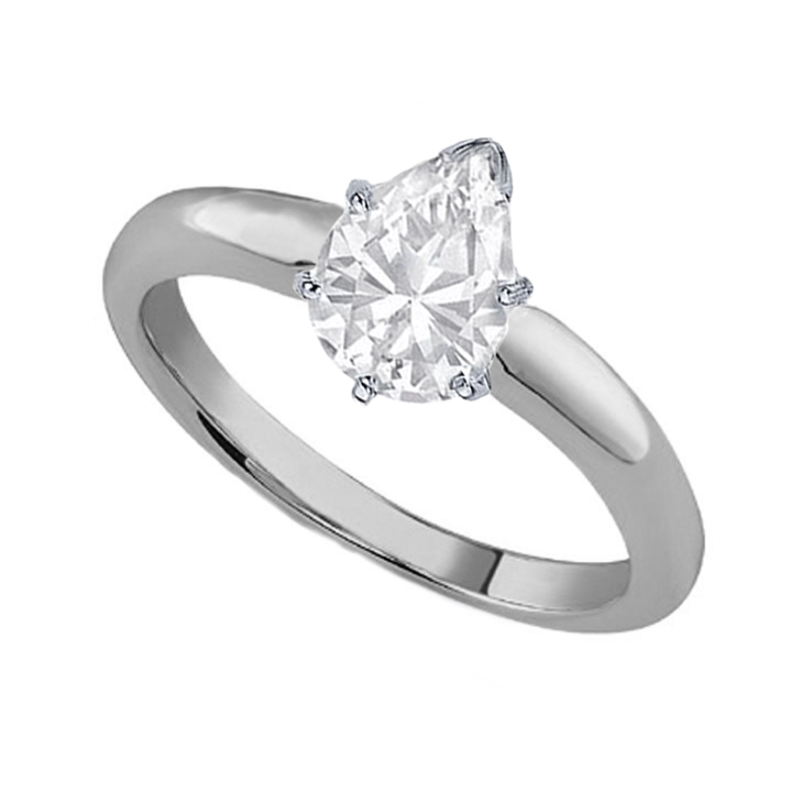 engagement ring pear shape diamond classic solitaire