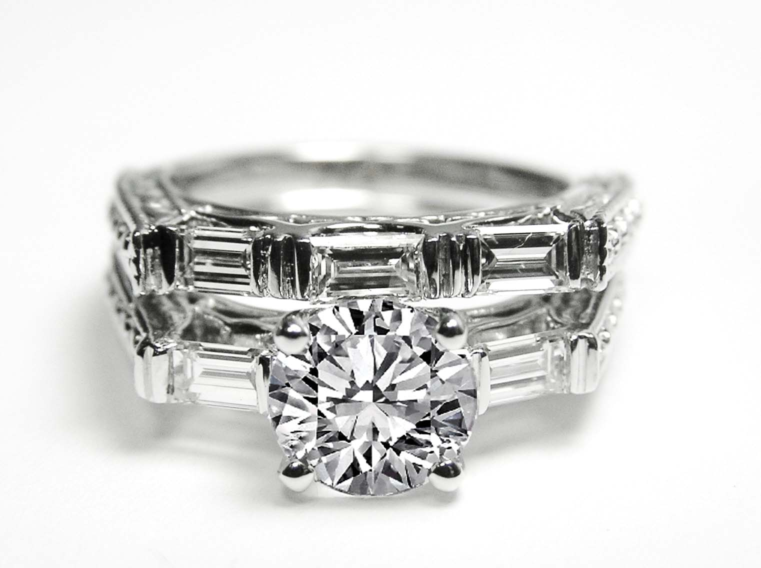 engagement ring diamond engagement ring with tapered