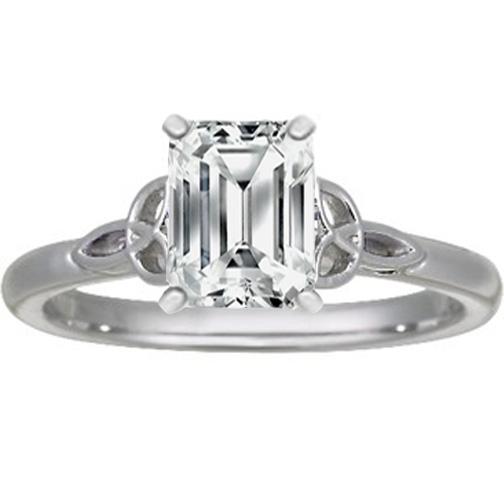 Engagement Ring -Emerald Cut Diamond Celtic Knot ...