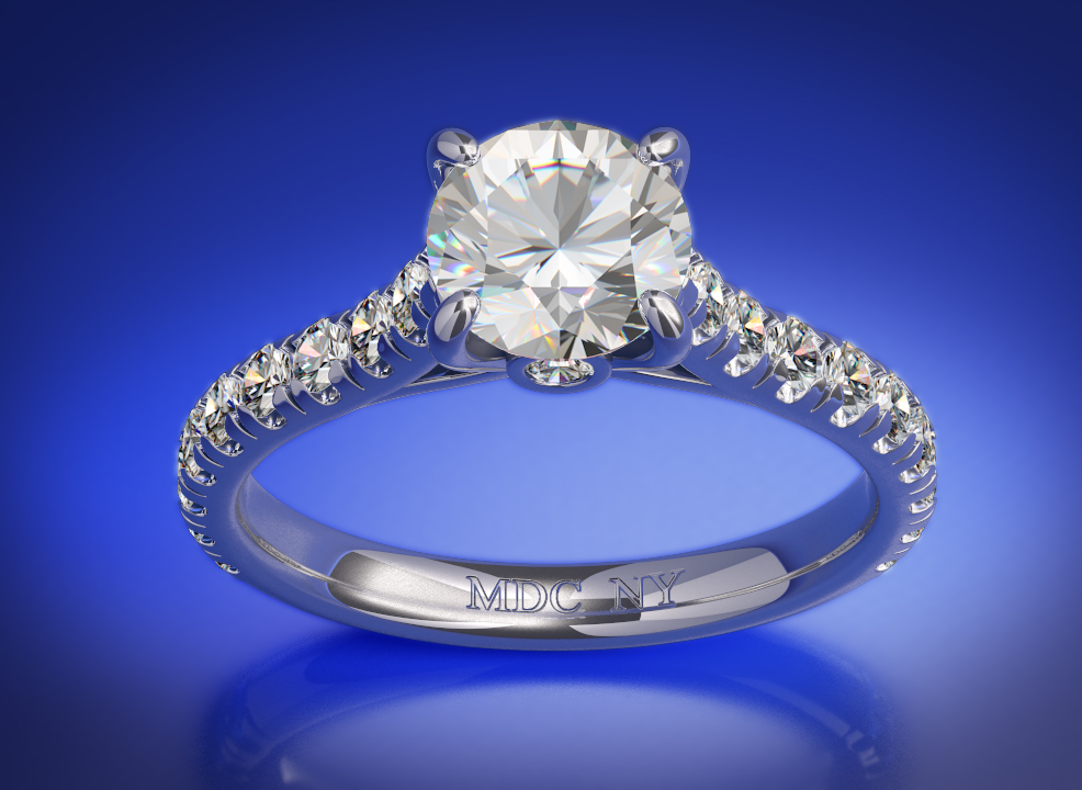 Surprise Diamond Engagement Ring 0.45 tcw. In 14K White Gold
