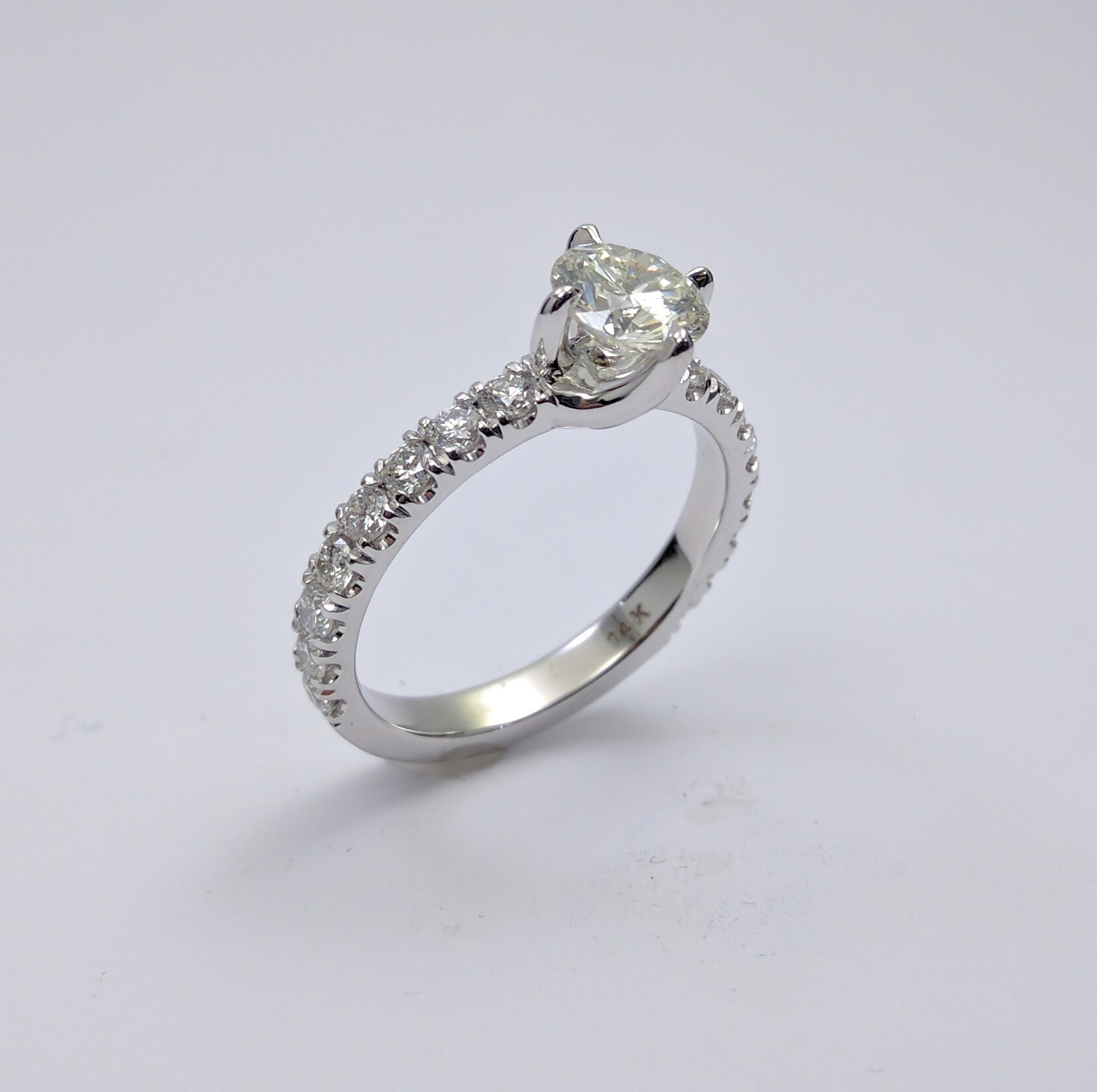Twisted Prongs Diamond Engagement Ring
