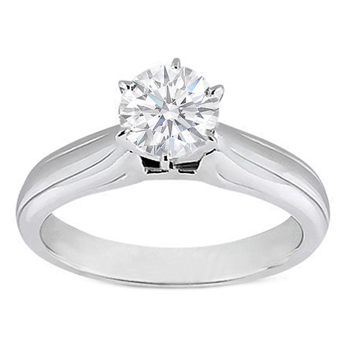 Solitaire Engagement Ring in 14K White Gold