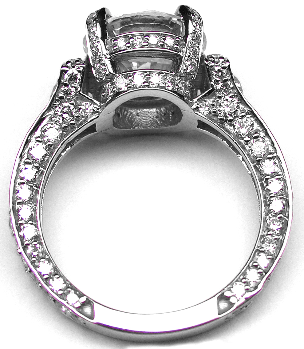 Large Engagement Ring Graduated Diamonds