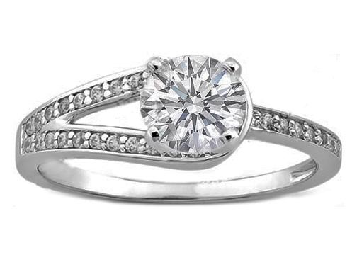 engagement ring petite diamond horseshoe engagement ring 017 tcw es799 - Horseshoe Wedding Rings
