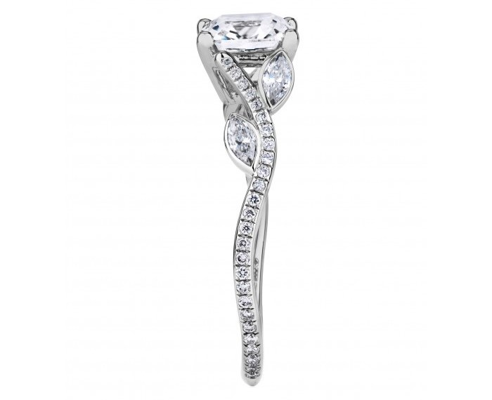 Adonis Floral Diamond Vine Engagement Ring