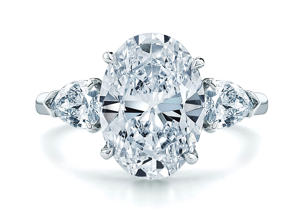 Engagement Ring Oval Diamond Engagement Ring Pear Shape