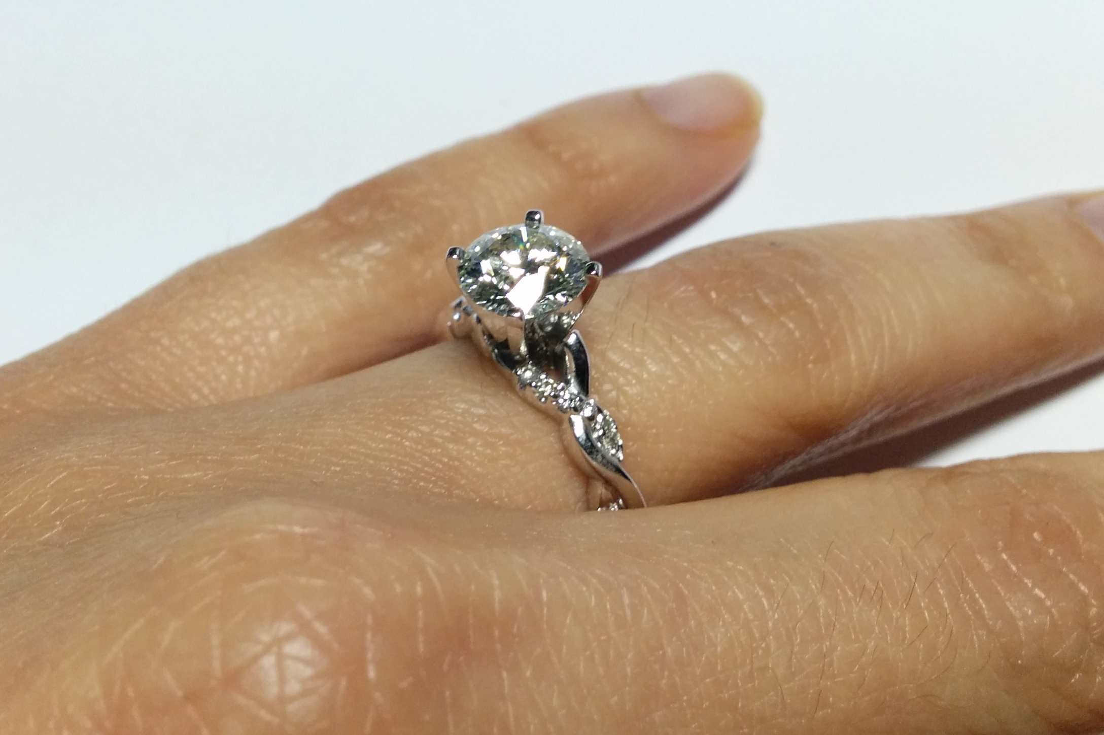 Engagement Ring Petite Twisted Pave Band Diamond Engagement Ring in